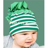 Adorable Country Pixie Hat - Stripy Green