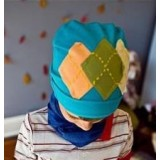 Adorable Country Pixie Hat - Blue *Colourful Patches*