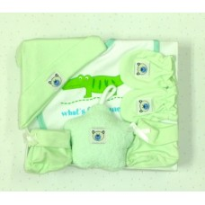 Adorable Star Baby Gift Set - Green (5 pc set)