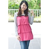 Autumnz - Merilyn Long Sleeved NursingTunic (Rose)