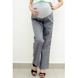 Autumnz - SLEEK Maternity Wide-Leg Long Pants *Pewter*