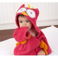 Adorable - Soft Hooded Bath Robe *My Pink Little Night Owl*