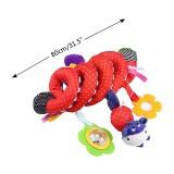 Baby Wrap Around Stroller Toy *Purple Stripes/Red Dots*