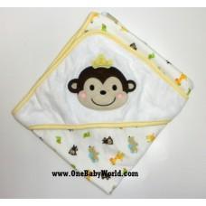 Premium Hooded Rcg Blanket/Towel - Cheerful Monkey