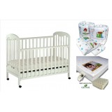 Seni Daya - Standard Baby Cot (SDB823) & LATEX Mattress & 7pcs Crib Set Package