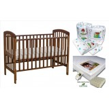 Seni Daya - Standard Baby Cot (SDB892) & LATEX Mattress & 7pcs Crib Set Package