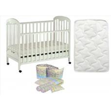 Seni Daya - Standard Baby Cot (SDB823) & FIBER Mattress & 7pcs Crib Set Package