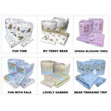 Seni Daya - Standard Baby Cot (Ivano) & FIBER Mattress & 7pcs Crib Set Package