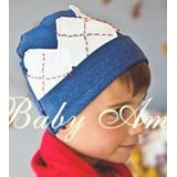 Adorable Country Pixie Hat - Blue *White Patches*
