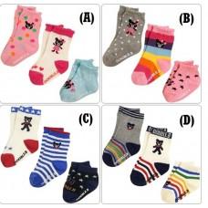 Adorable - 3pcs DO-Re-Mi Baby Socks