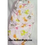Swaddle Blanket - Safari World *Pink*