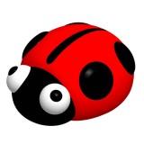 Little Bean - Tap On LED Night Light *Ladybug*