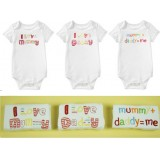 Mom's Care- 3 pc SS rompers set *Option C*
