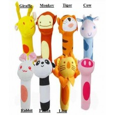 Adorable - *Assorted* Animal Squeekie Rattle (1pc)