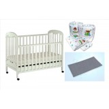 Seni Daya - Standard Baby Cot (SDB823) & WATER Mattress & 7pcs Crib Set Package
