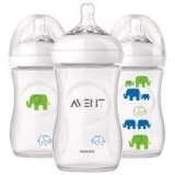 Philips Avent - Bottle Natural 260 ML/9OZ - Elephant *Boy* (Single Pack)