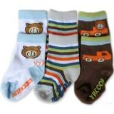 Bumble Bee - Bear Car Socks (3 pair)