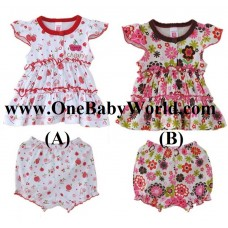 Adorable - Baby Girl Dress with Matching Pants (Set B)
