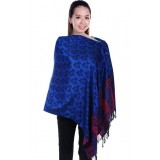 Autumnz Nursing Wrap - Frangipani (Satin Blue)