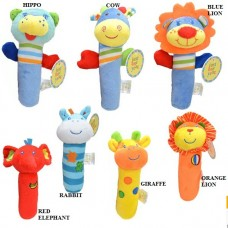 Adorable - *Friends* Animal Squeekie Rattles (Design A)